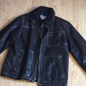 Leather jacket by VINTAGE LEATHER in brown large